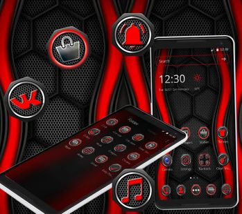 Screenshots - Red and Black Launcher Theme