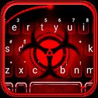 Red Sharingan Keyboard Theme