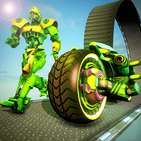 Robot Light Bike Stunts Racing - Bike Racing Games