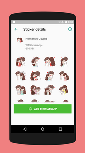 Screenshots - Romantic Couple Stickers for Chat - WAStickers