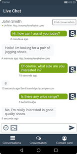 Screenshots - SALESmanago Live Chat