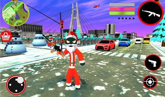Screenshots - Santa Stickman Rope Hero: Gangster Crime Simulator