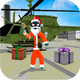 Santa Stickman Rope Hero: Gangster Crime Simulator