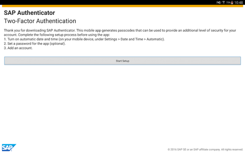 Screenshots - SAP Authenticator