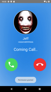 Screenshots - Scary call from Jeff the killer at 3AM