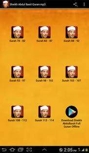 Screenshots - Sheikh Abdul Basit Quran mp3