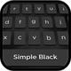 Simple black keyboard