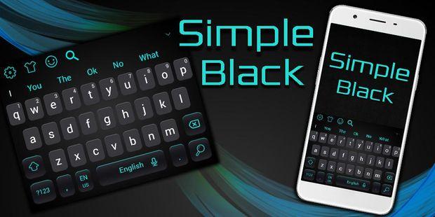 Screenshots - Simple Cool Black Keyboard Theme