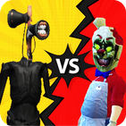 Siren Head vs Ice granny fight Game 3D