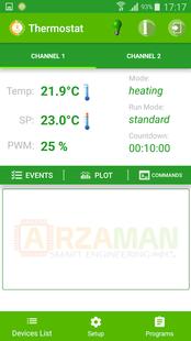 Screenshots - SmartPID smart thermostat