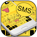 SMS Yellow Cartoon Keyboard Theme