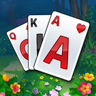 Solitaire Tripeaks-Secret Garden-Free Card Game