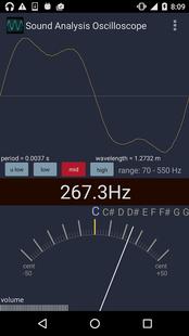 Screenshots - Sound Analysis Oscilloscope