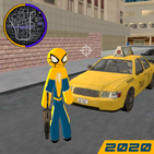 Spider stickman Rope Hero - Gangster New York City