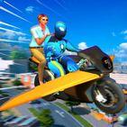 Spider Superhero Fly Rescue Mission Miami City