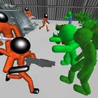 Stickman Prison Battle Simulator: Zombies