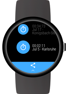 Screenshots - Stopwatch for Wear OS (Android Wear)