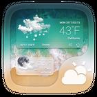 Stylish GO Weather Widget Theme