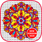 Super Mandala Coloring Book - Color By Number