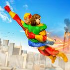 Superhero Flying Rescue Mission