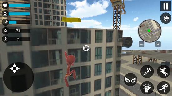 Screenshots - Superhero Stickman Rope Hero : Gangstar Crime
