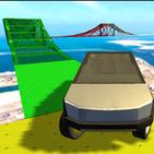 Tesla Electric Cyber Truck Jump Adventure