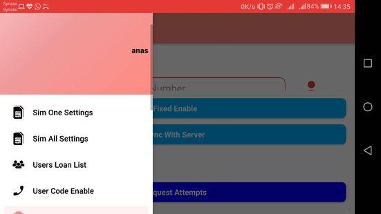 Screenshots - تحويل رصيد شربك للأتصالات