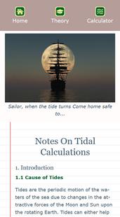 Screenshots - Tidal Calculator