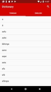 Screenshots - Tongan-English Dictionary