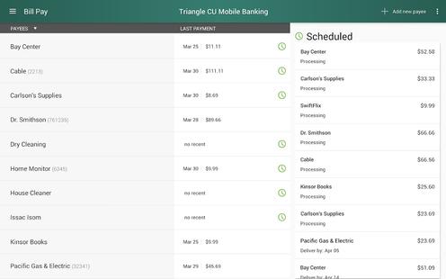 Screenshots - Triangle Credit Union