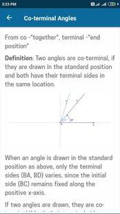 Screenshots - Trigonometry Mathematics