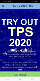 Screenshots - Try Out TPS UTBK 2020