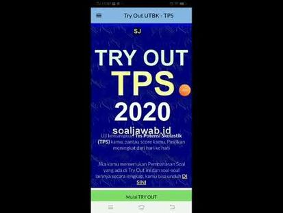 Video Image - Try Out TPS UTBK 2020