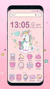 Screenshots - Unicorn launcher theme &wallpaper