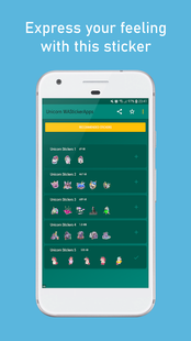 Screenshots - Unicorn Stickers WAStickerApps