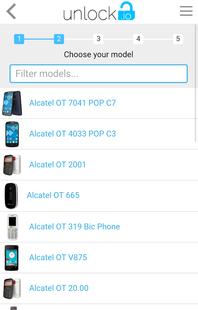 Screenshots - Unlock your Alcatel phones