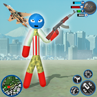 US Army Stickman Rope Hero-New Gangster Crime Game