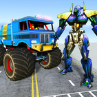 US Police Monster Truck Transform Robot War Games