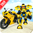 US Robot Bike Transform Shooting Game