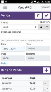 Screenshots - VendaPRO! Controle de Vendas