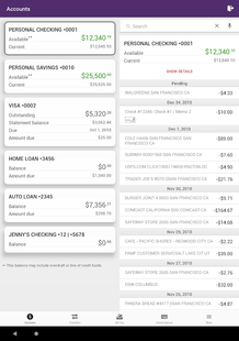 Screenshots - Vermont Fed CU Mobile Banking