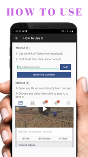 Screenshots - Video Downloader For Facebook : FB Video Download