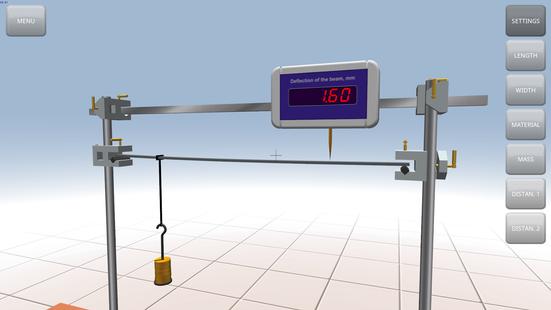 Screenshots - Virtual Lab «Mechanics»