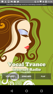 Screenshots - Vocal Trance - Internet Radio