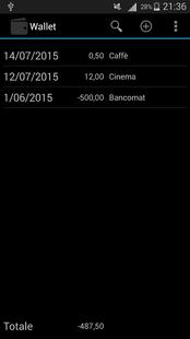 Screenshots - Wallet CSV
