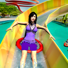 Water Park Race: Theme Park Uphill Slide, Stunt 20