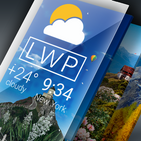 Weather Live Wallpaper. Current forecast on screen