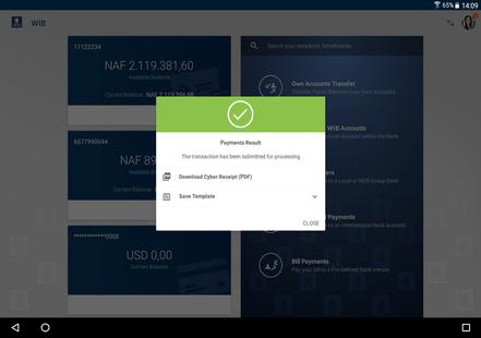 Screenshots - WIB Mobile Banking St Maarten