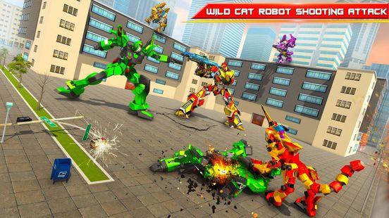 Screenshots - Wild Cheetah Transforming Robot Car Robot Games