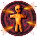 Witchcraft for voodoo doll. Magic games simulator
